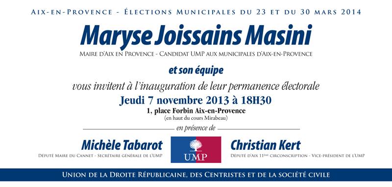 Inauguration de la permanence de campagne de Maryse Joissains le 7 novembre carton_invitation2